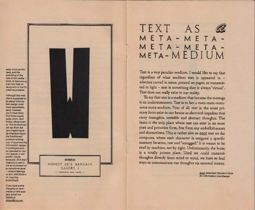 Double-page spread of a booklet