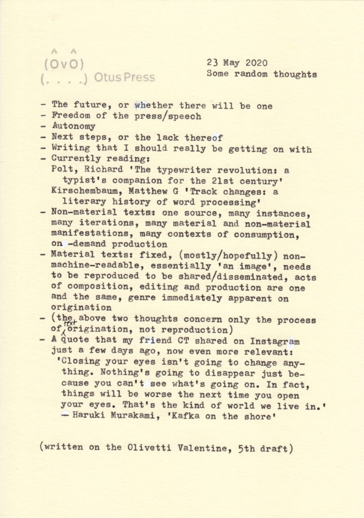 An image of a typewritten page of text
