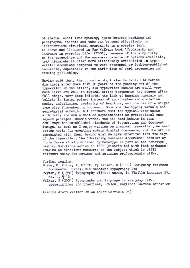 Image of a page of typewritten text